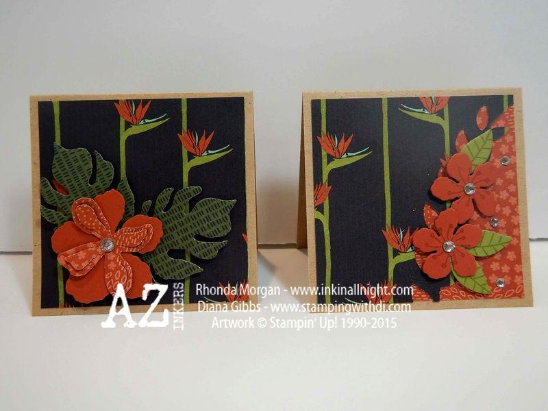 Spring Fling Diana Gibbs Botanical Gardens DSP 3x3 cards