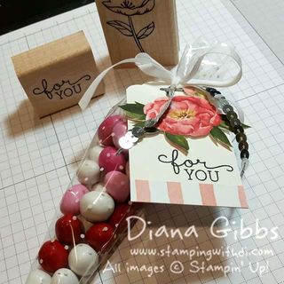 Polka Dot Cone Bags Birthday Bouquet DSP Diana Gibbs Stampin' Up!