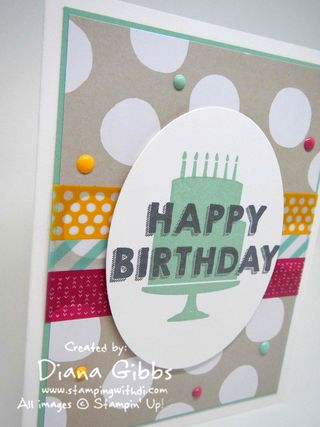 Party Wishes Stampin' Up! Diana Gibbs