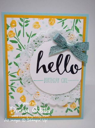 Hello Number of Years Stampin' Up! Diana Gibbs Jennifer Sootkoos case