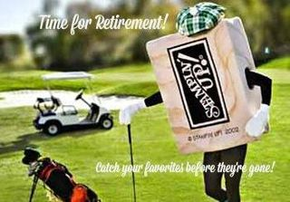 Retired golf with greeting