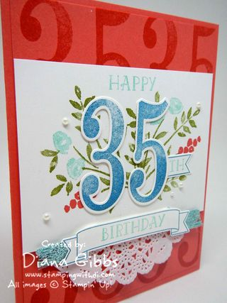 Number of Years Class in the Mail Diana Gibbs Stampin' Up!