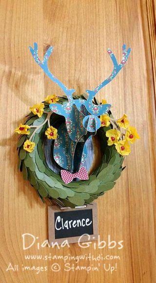 April Paper Pumpkin wreath Diana Gibbs Stampin' Up!