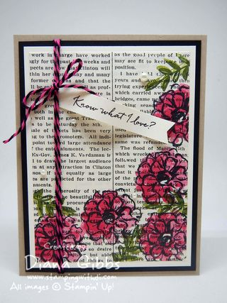 What I Love Diana Gibbs Typeset Stampin' Up! Tracy May inspired