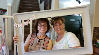 Tracy and I with frame retreat 2016