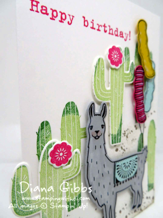 Birthday Fiesta Balloons Diana Gibbs Stampin' Up!