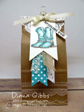 Country Livin' Diana Gibbs Stampin' Up! Petite Cafe Bag
