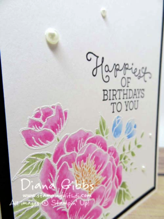 Birthday Blooms Diana Gibbs Watercolor Pencils