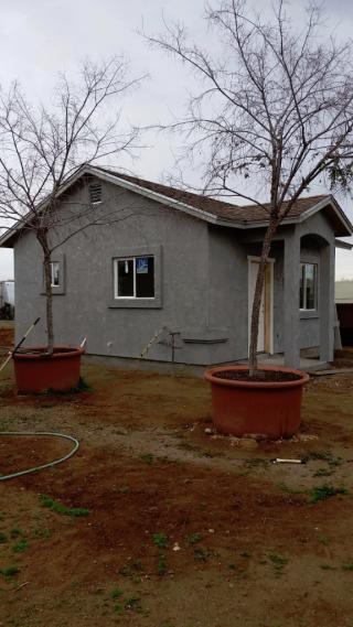 House stuccoed