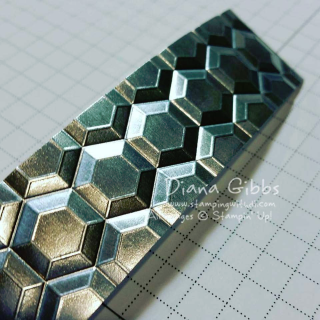 Making Metal Diana Gibbs hexagons dynamic textured impressions folder
