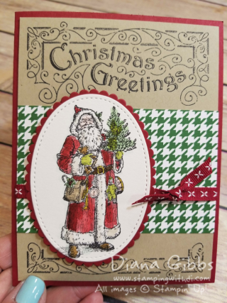 Father Christmas Diana Gibbs July Christmas card of the month