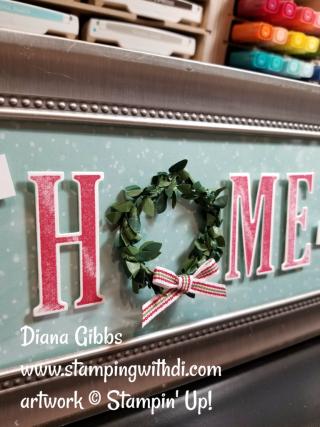 Home for Christmas frame Diana Gibbs