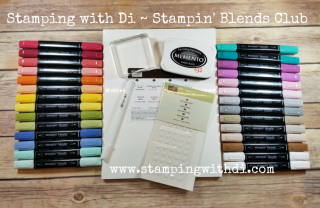 Stamping with Di Stampin' Blends club free gift