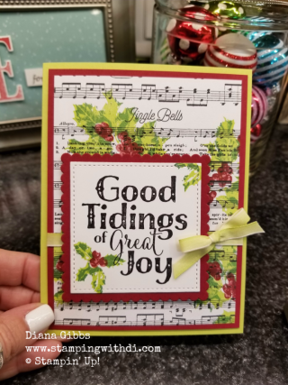 Good Tidings Diana Gibbs Stampin' Up! Kristi Gray inspired