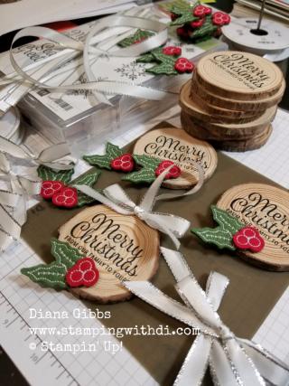Wooden ornaments Diana Gibbs
