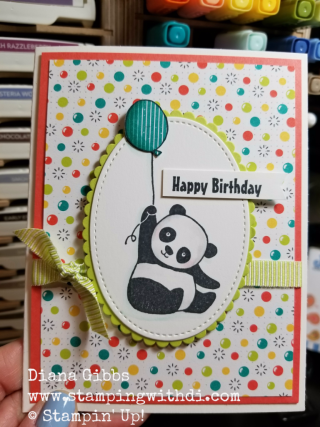 Party Pandas Card Gut Challenge Diana Gibbs www.stampingwithdi.com