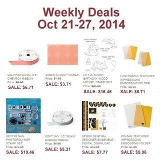 Weekly deal 10 21