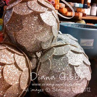 Silver Glimmer Balls