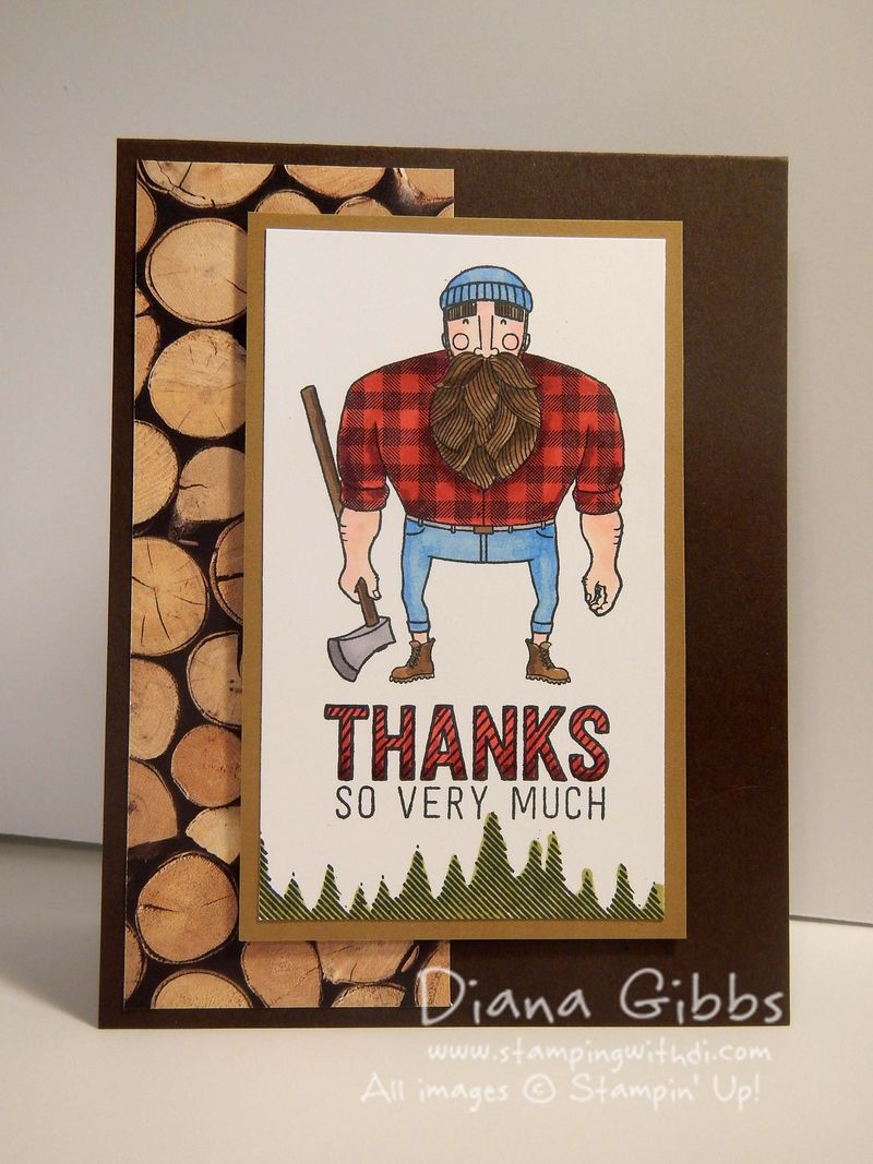 Wood You Be Mine full Stampin' Up! Diana Gibbs