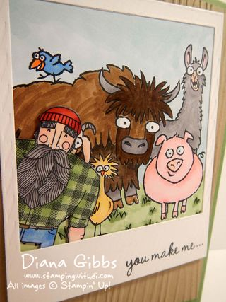 From the Herd  Wood You Be Mine Stampin' Up! Diana Gibbs close