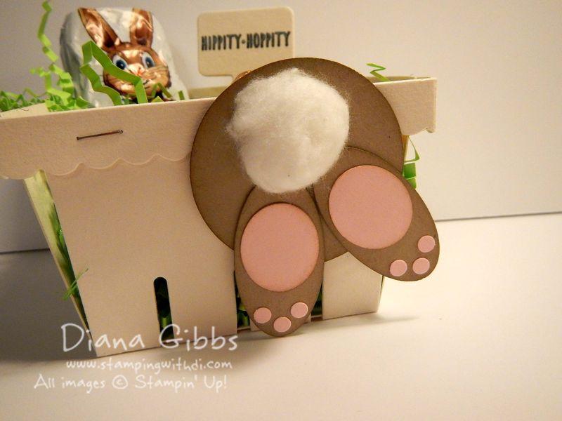 Bunny Bum Berry Basket Diana Gibbs