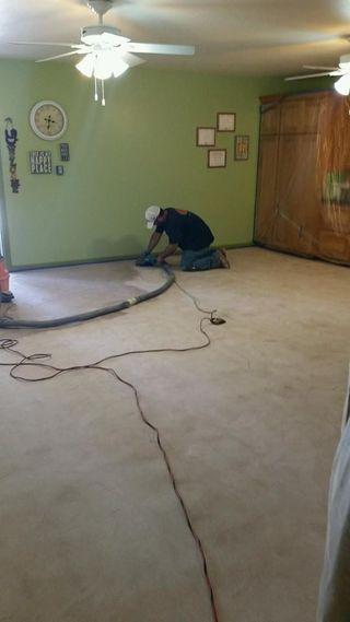Sanding the floor before epoxy
