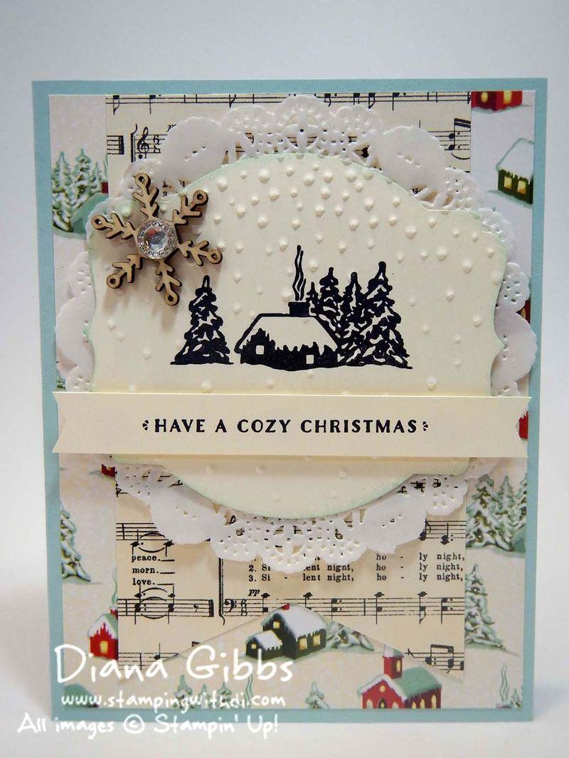 Cozy Christmas Diana Gibbs Stampin' Up! Twila Davis tweak