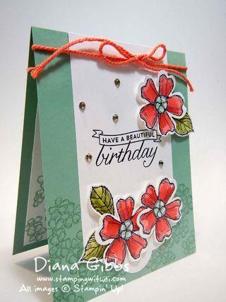 Mint Macaron Diana Gibbs Stampin' Up! Birthday Blossoms