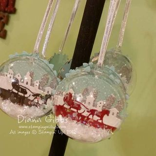 Ornament Bubbles Diana Gibbs Di's Country INKers Linda Madison case