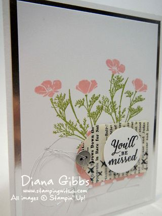 Wild About Flowers Diana Gibbs Stampin' Up! You'll Be Missed