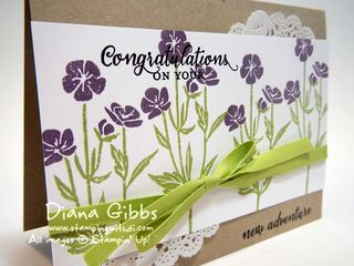 New Adventure Wild About Flowers Diana Gibbs Stampin' Up!