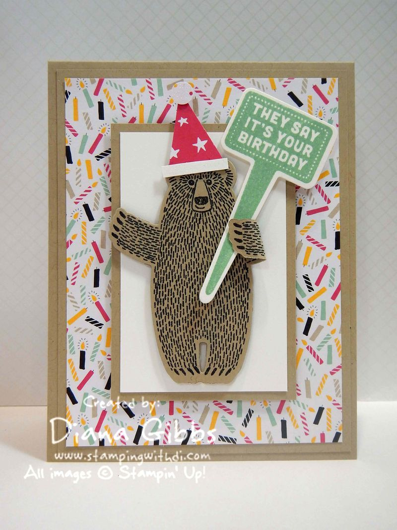 Bear Hugs Stake Your Claim Diana  Gibbs Stampin' Up!