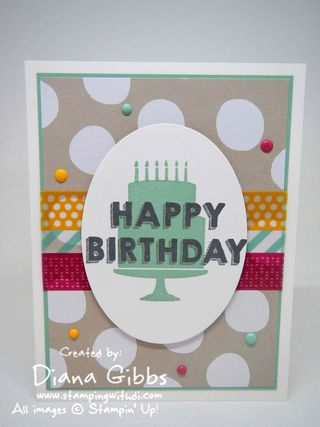 Party Wishes Julie Kettlewell case Stampin' Up! Diana Gibbs