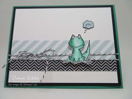 Love you Lots Frog to Lizard Diana Gibbs Stampin' Up! Hostess set