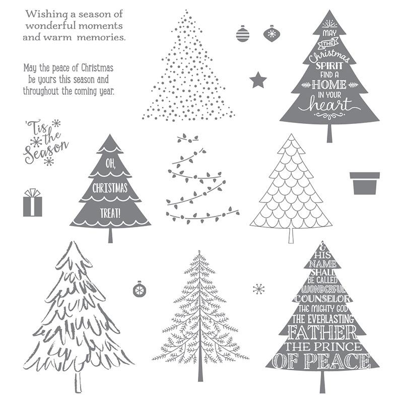 Peaceful pines stamp set
