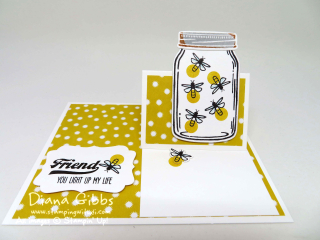 Jar of Love Easel Card Diana Gibbs Stampin' Up!