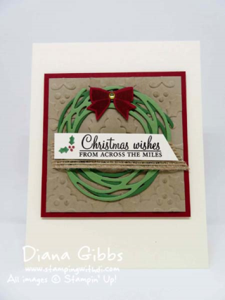 Swirly Scribbles Thinlits, Holly Berry Happiness, Christmas Pines, Diana Gibbs Stampin' Up!, Jenny Peterson case