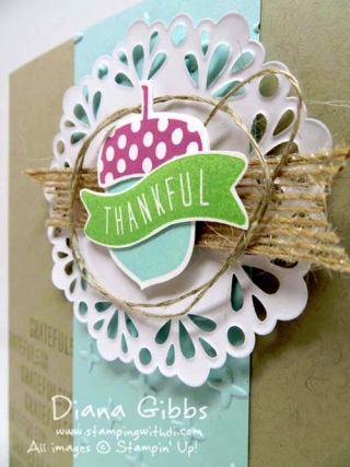 Acorny Thank You Mimeograph Monday and More Diana Gibbs Stampin' Up!