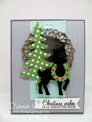 Acorny Thank You Santa's Sleigh Mimeograph Monday and More Diana Gibbs Stampin' Up!