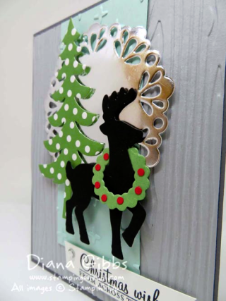 Acorny Thank You with Santa's Sleigh Mimeograph Monday and More Diana Gibbs Stampin' Up!