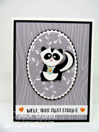 Fox Builder Here for You Skunk punch art Diana Gibbs Stampin' Up!