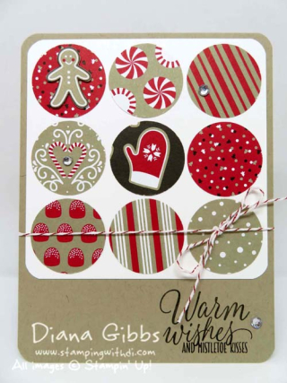 Candy Cane Lane DSP Stampin' Up! Diana Gibbs case of BJ Peters
