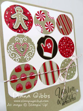 Candy Cane Lane DSP Tic Tac Toe Diana Gibbs Stampin' Up!