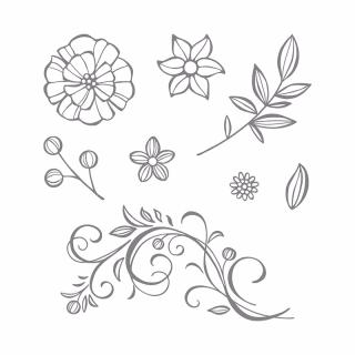 Falling Flowers stamp set
