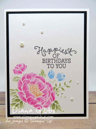Birthday Blooms Stampin' Up! Diana Gibbs Ilina Crouse inspired