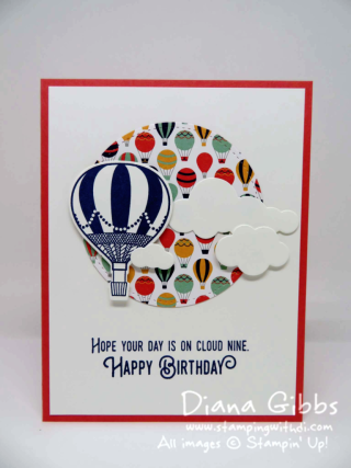 Lift Me Up Diana Gibbs Stampin' Up! Cased from Helen Read