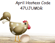 April Hostess Code Button