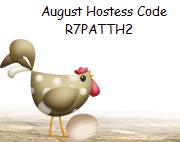 August Hostess Code
