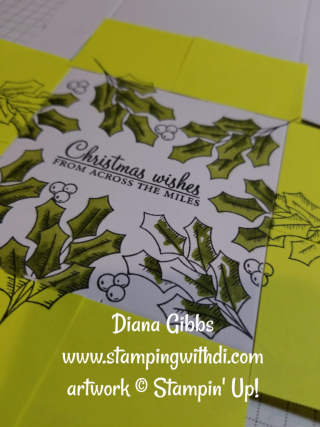 Pizza Box coloring with Stampin' Blends Holly Berry Happiness Diana Gibbs