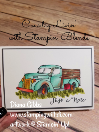 Country Livin' Diana Gibbs Stampin' Up! Stampin' Blends
